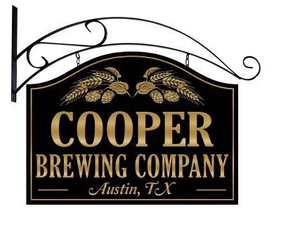 Personalized Brewing Company Metal Sign with wall mount
