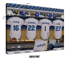 Sample of the Personalized MLB Locker Room Sign - Canvas