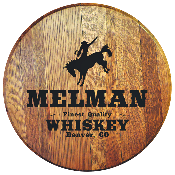 Personalized Rodeo Cowboy Barrel Head Sign