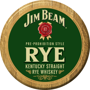 Jim Beam Rye Barrel Head Sign
