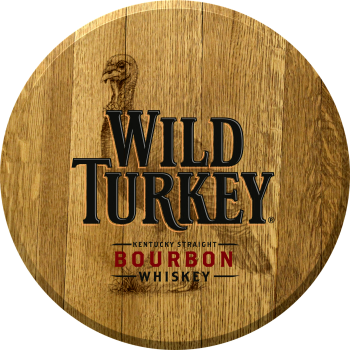 Wild Turkey Barrel Head Sign