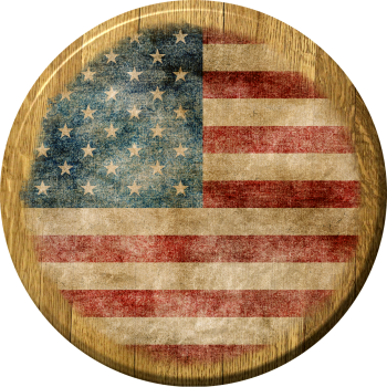 American Flag Barrel Head Sign