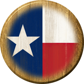 Texas Flag Barrel Head Sign
