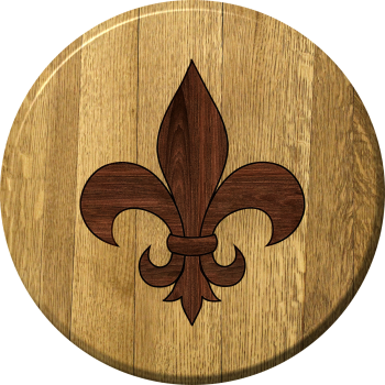 Fleur De Lis Barrel Head Sign