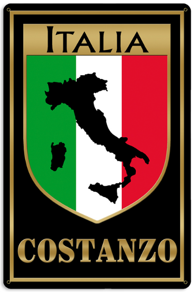 Personalized Italia Sign - Metal
