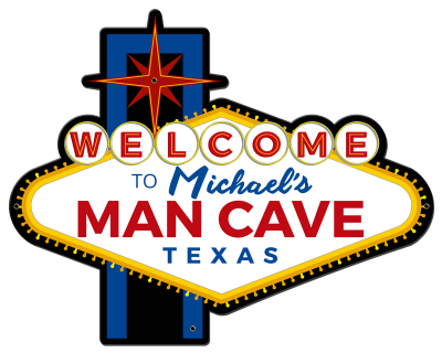 Personalized Man Cave Welcome Metal Sign - Night
