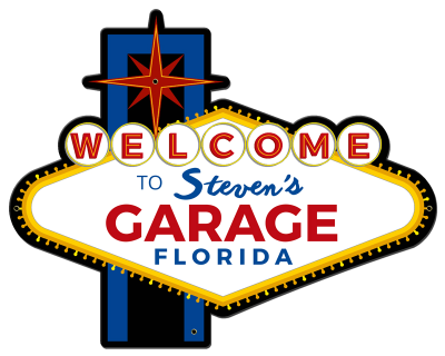 Personalized Garage Welcome Metal Sign - Night