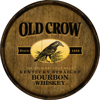Old Crow Barrel Head Sign - Hoop Head
