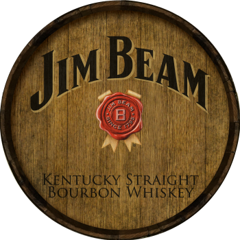 Jim Beam Barrel Head Sign - Hoop Head