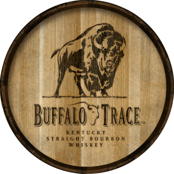 Buffalo Trace Barrel Head Sign - Hoop Head