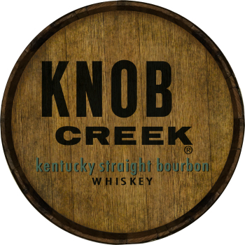 Knob Creek Barrel Head Sign - Hoop Head
