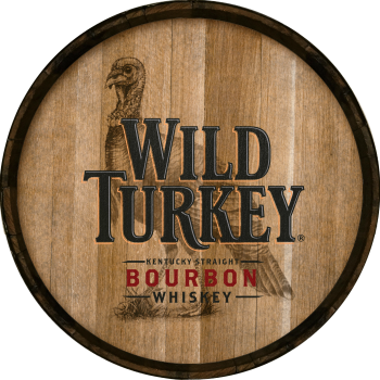 Wild Turkey Barrel Head Sign - Hoop Head