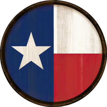Texas Flag Barrel Head Sign - Hoop Head