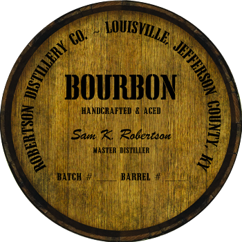 Personalized Barrel Head Sign - Bourbon Distillery Warehouse Hoop Head