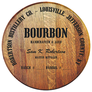 Personalized Barrel Head Sign - Bourbon Distillery Warehouse
