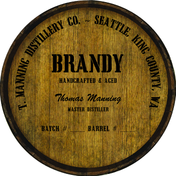 Personalized Barrel Head Sign - Brandy Distillery Warehouse Hoop Head