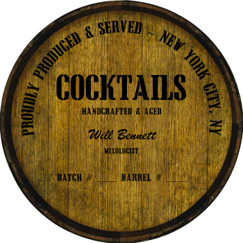 Personalized Barrel Head Sign - Cocktails Distillery Warehouse Hoop Head
