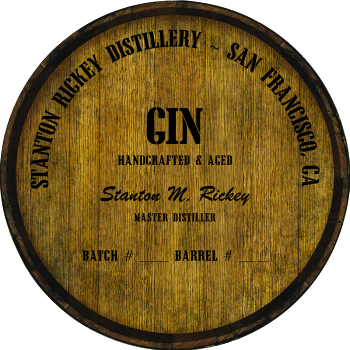Personalized Barrel Head Sign - Gin Distillery Warehouse Hoop Head