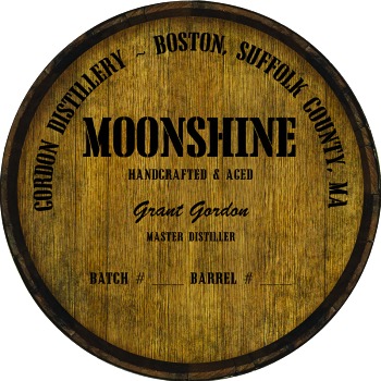 Personalized Barrel Head Sign - Moonshine Distillery Warehouse Hoop Head