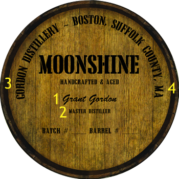 Personalized Barrel Head Sign - Moonshine Distillery Warehouse Hoop Head - Personalization Options