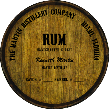 Personalized Barrel Head Sign - Rum Distillery Warehouse Hoop Head