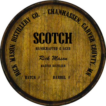 Personalized Barrel Head Sign - Scotch Distillery Warehouse Hoop Head