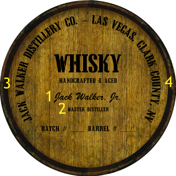 Personalized Barrel Head Sign - Whisky Distillery Warehouse Hoop Head - Personalization Options