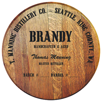 Personalized Barrel Head Sign - Brandy Distillery Warehouse