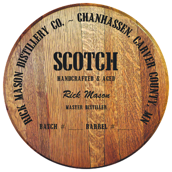 Personalized Barrel Head Sign - Scotch Distillery Warehouse