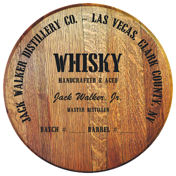 Personalized Barrel Head Sign - Whisky Distillery Warehouse