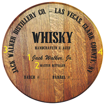 Personalized Barrel Head Sign - Whisky Distillery Warehouse - Personalization Options