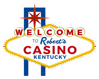 Personalized Casino Welcome Metal Sign - Day