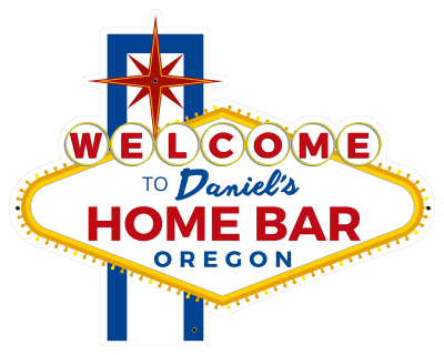 Personalized Home Bar Welcome Metal Sign - Day