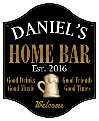 Personalized Home Bar Sign Metal