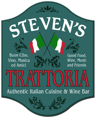Personalized Trattoria Sign - Metal