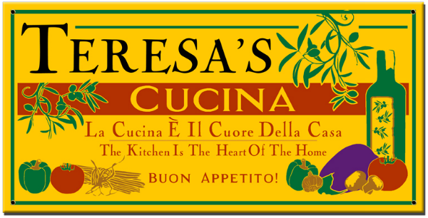 Personalized Cucina Buon Appetito Sign - Metal