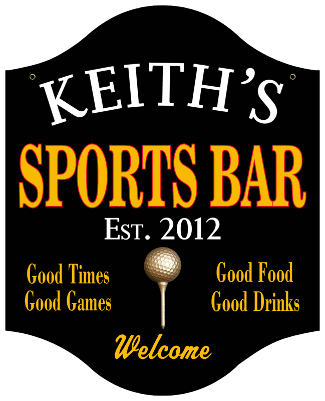 Personalized Sports Bar Sign Golf - Metal