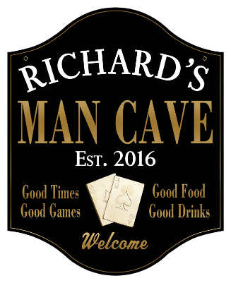 Personalized Man Cave Sign Poker 2 - Metal