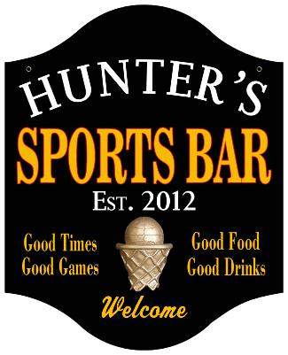 Personalized Sports Bar Sign Basketball - Metal