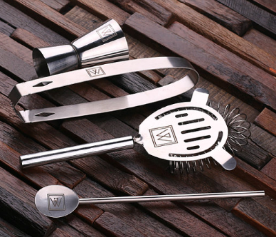 Personalized Bar Tools in the Gift Set