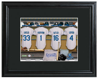 Sample of the Personalized MLB Locker Room Sign - Framed & Matted