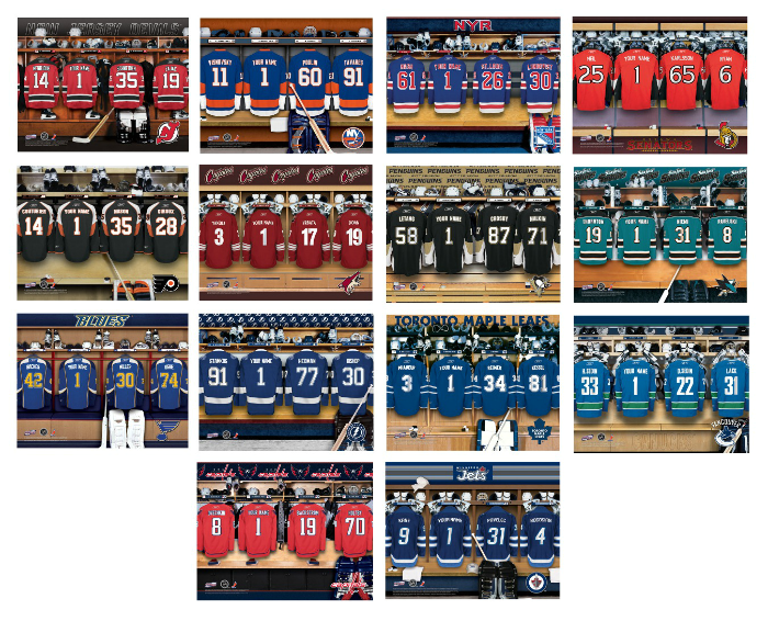 Personalized NHL Locker Room Sign - Framed & Matted | Man ...