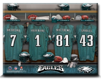Sample of the Personalized NFL Locker Room Sign - Canvas