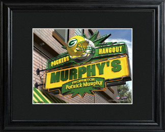 Sample of the Personalized NFLSports Room Sign - Framed & Matted