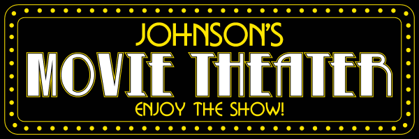 Personalized Movie Theater Metal Sign - Large