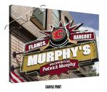 Personalized Calgary Flames NHL Sports Room Pub Sign - Canvas Mounted Print