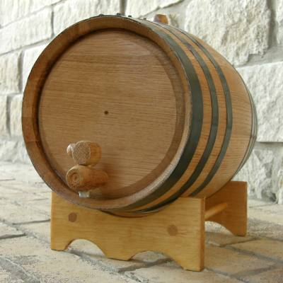 Mini Oak Barrel before personalization