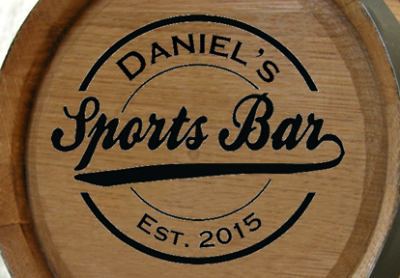 Personalized Sports Bar Mini Oak Barrel