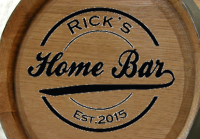 Personalized Home Bar Mini Oak Barrel