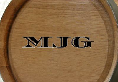 Personalized Monogrammed Mini Oak Barrel